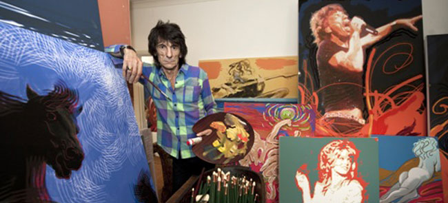 Musician Ronnie Wood of the Rolling Stones is also an exceptionally talented and prolific painter.