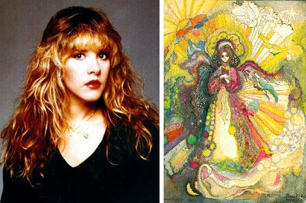 Songstress Stevie Nicks creates dreamlike paintings full of color and detail.