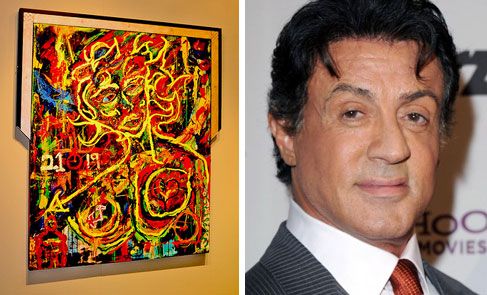 Actor Sylvester Stallone has been known to pick up a paintbrush as well.