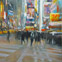 Times Square, Electric Echoes, Oil on Anodized Aluminum, 60x48