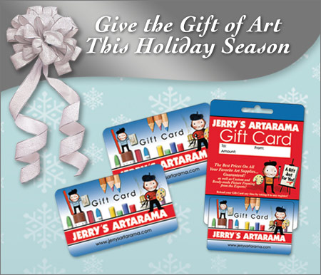 Gift cards for the artist this holiday season