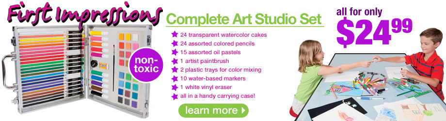 Non Toxic Art Studio Set For Kids