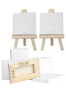 Ultra Mini Artist Stretched Canvas and Display Easels