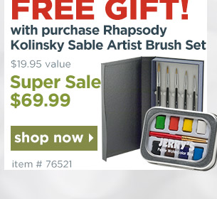 Free Gift with Rhapsody Deluxe Brush Set