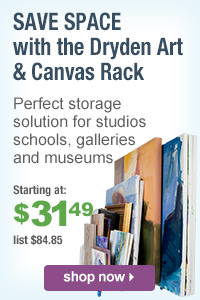 Save Space with the Dryden Art & Canvas Rack