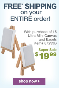 Free Shipping with purchase of 15 Ultra Mini Easels | shop now