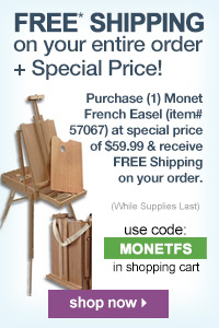 Monet Traveling French Easel Plus Free Shipping | shop now