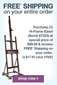Back In Stock SoHo H-Frame Studio Easel Plus Free Shipping | shop now