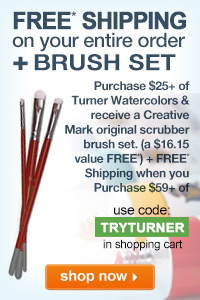 Free Shipping On Your Entire Order Plus Free Scrubber Brush Set when you Purchase $25+ Turner Watercolors | shop now