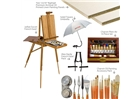 Deluxe Plein Air Oil Painting Value Art Set -