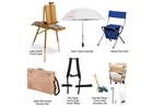 Jerry's Plein Air Canvas Set with Jullian Escort French Easel - Birchwood