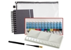 Black Velvet Voyage Brush Watercolor Plein Air Travel Set -