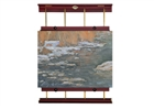 Rue Wall Display & Painting Easel - Mahogony