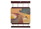 Rue Wall Display & Painting Easel - Mahogany