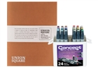Concept Marker Color BONUS Set of 24 Basic Colors with Union Square Heavyweight Drawing Pad 11x14