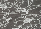 Mountain Peak Handmade Lokta Paper - Grey / Black Floral