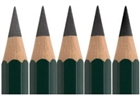 Faber-Castell 9000 Graphite Pencils - 1 each: HB, 2B, 4B, 6B, 8B