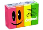 Claytoon Modeling Clay for Kids - Neon Colors