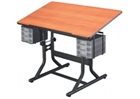 ALVIN Drafting Table - Black Base / Cherry Top