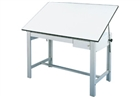 ALVIN Drafting Table - Gray Base (1 Drawer)