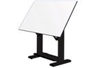 ALVIN Drafting Table - Black Base / White Top