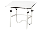 ALVIN Drafting Table - White Base