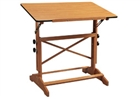 ALVIN Drafting Table - Cherry Melamine Top