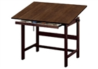 ALVIN Drafting Table - Walnut Finish