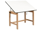 ALVIN Drafting Table - Natural Oak Finish