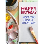 Birthday Art eGift Card - Painted on Canvas - Electronic Gift Card