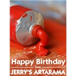 Birthday Art e-Gift Card - Red Paint
