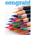 Congratulations Art eGift Card - Colored Pencils