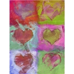 Valentine's Day Art eGift Card - Abstract Hearts 1 - electronic gift card