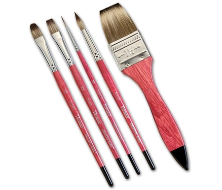 Vermeer Mongoose Hair Watercolor Brushes for the watercolor artist!