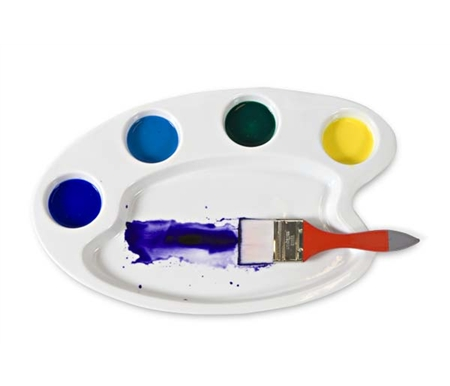 Classic Ceramic Artists' Palette