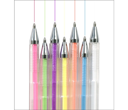 Crown Hi-Jell Roller Pens - Pastel Colors