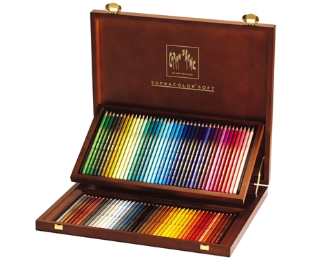 Caran d'Ache Supracolor II Wood Box Set of 80