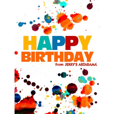 Birthday Art e-Gift Card - Splatter