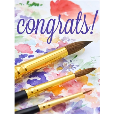 Congratulations Art eGift Card - Watercolors