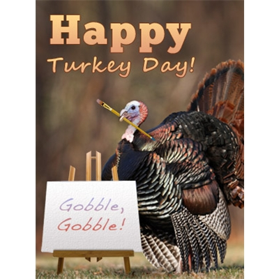 Thanksgiving Art eGift Card - Turkey Day - electronic gift card