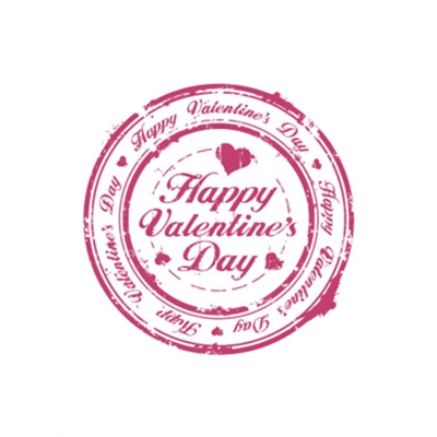 Valentine's Day Art eGift Card - Stamp On White - electronic gift card