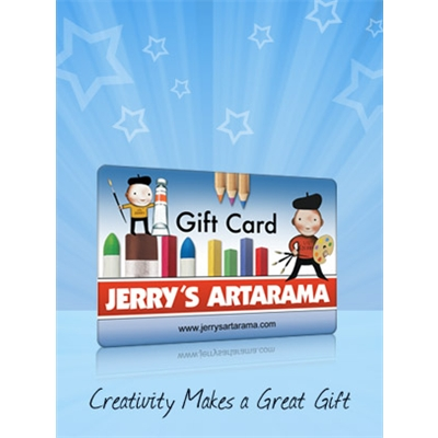 Electronic gift cards. Gifts for artists