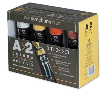 A>2 Acrylics 8 Tube (120 ml) Set