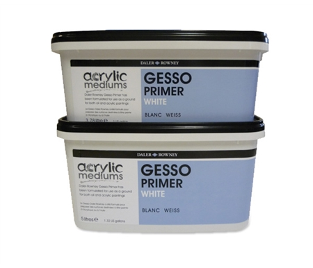 This Gesso can be tinted with any Daler-Rowney Acrylic colors (except metallic colors).