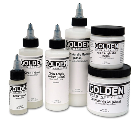 These innovative mediums are specially formulated for use with Golden\'s Open Acrylics.