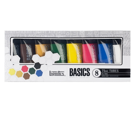 Liquitex Basics Primary Set of 8
