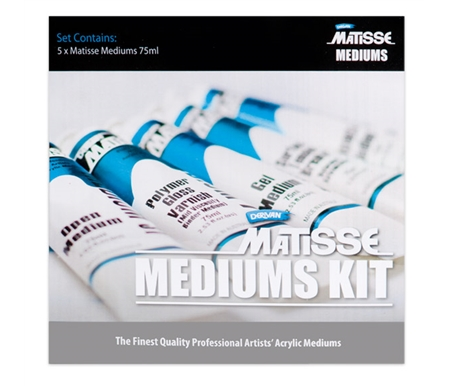 Try this Mediums Kit and you know why people love Matisse Acrylics and Mediums!