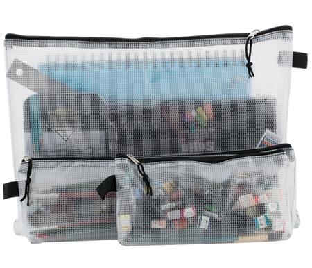 Creative Mark Mesh Zipper Bags