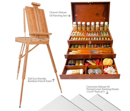 Charvin Deluxe Oil Painting Value Art Set