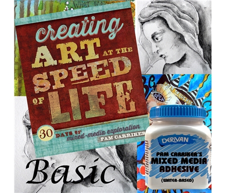 Creating Art at the Speed of Life: 30 Days of Mixed Media + Pam Carriker\'s Mixed Media Adhesive by Matisse Derivan